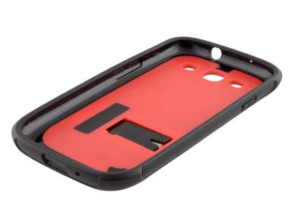 Samsung I9300 Galaxy S3 Dual-Design Stand Case - Black/Red