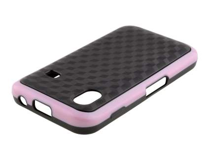 3D Design Protective Case for Samsung S5830 Galaxy Ace - Baby Pink/Black