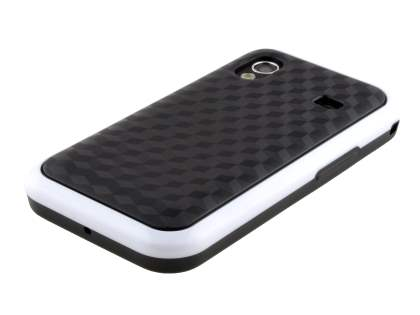 3D Design Protective Case for Samsung S5830 Galaxy Ace - White/Black