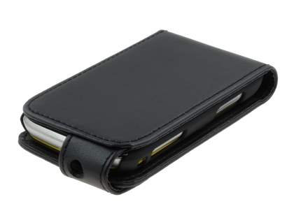 Samsung Galaxy mini 2 S6500 Synthetic Leather Flip Case - Black