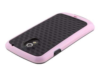 3D Design Protective Case for Samsung I9250 Galaxy Nexus - Baby Pink/Black