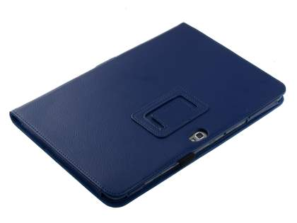 Samsung Galaxy Note 10.1 4G Synthetic Leather Flip Case with Fold-Back Stand - Blue