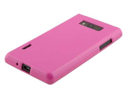 LG Optimus L7 P700 Frosted Colour TPU Gel Case - Baby Pink