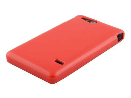 Sony Xperia go ST27i Colour TPU Gel Case - Red