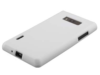 LG Optimus L7 P700 Frosted Colour TPU Gel Case - White