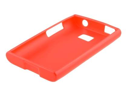 Frosted Colour TPU Gel Case for LG Optimus L3 E400/L2 E405 - Red