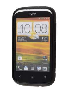 Wave Case for HTC Desire C - Frosted Black/Black