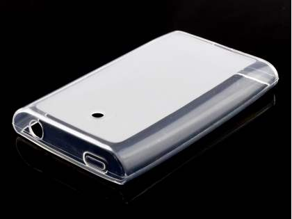 LG Optimus L3 E400 / L2 E405 Frosted Colour TPU Gel Case - Frosted Clear