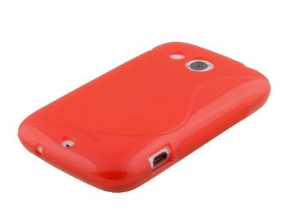 HTC Desire C Wave Case - Frosted Red/Red