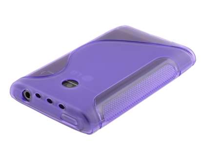 LG Optimus L3 E400 / L2 E405 Wave Case - Frosted Purple/Purple