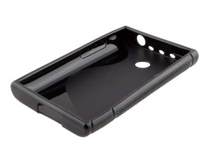LG Optimus L3 E400 / L2 E405 Wave Case - Frosted Black/Black