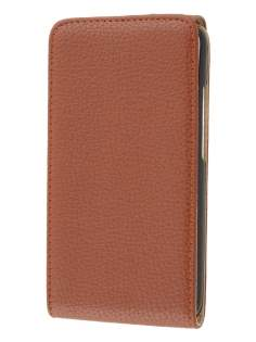 HTC One X / XL / X+ Synthetic Leather Flip Case - Brown