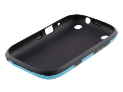 3D Design Protective Case for BlackBerry Curve 9320 - Light Blue/Black