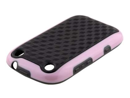 3D Design Protective Case for BlackBerry Curve 9320 - Baby Pink/Black