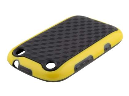 3D Design Protective Case for BlackBerry Curve 9320 - Canary Yellow/Black