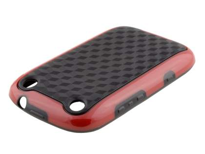 3D Design Protective Case for BlackBerry Curve 9320 - Red/Black