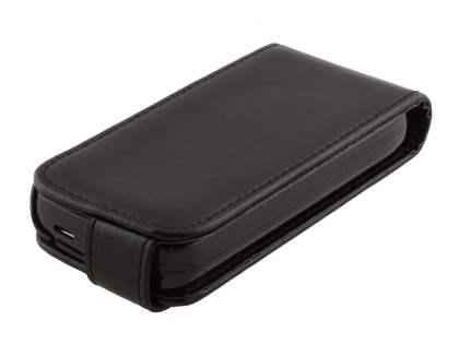Nokia C5-03 Synthetic Leather Flip Case - Black