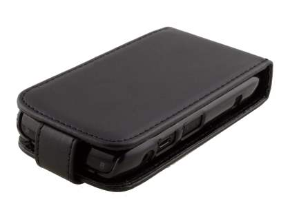 BlackBerry Bold 9700/9780 Synthetic Leather Flip Case - Black