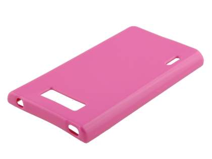 Frosted Colour TPU Gel Case for LG Optimus L7 P700 - Baby Pink
