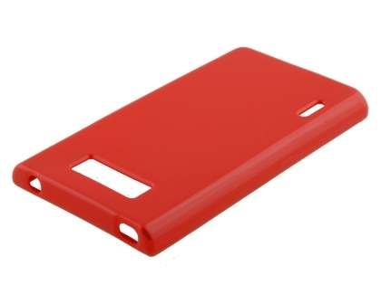 LG Optimus L7 P700 Frosted Colour TPU Gel Case - Red