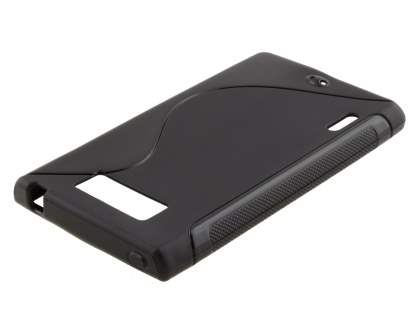 Wave Case for LG Optimus L7 P700 - Frosted Black/Black