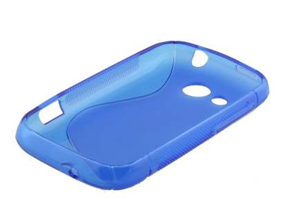 HTC Desire C Wave Case - Frosted Blue/Blue
