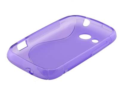 Wave Case for HTC Desire C - Purple/Frosted Purple