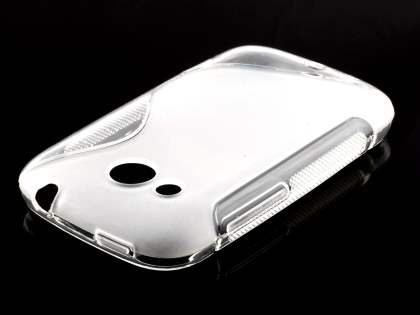 HTC Desire C Wave Case - Frosted Clear/Clear