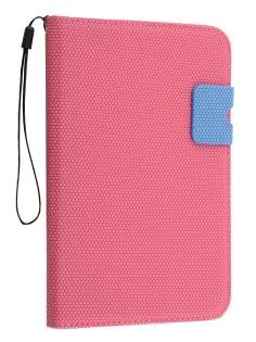 Slim Wallet Case with Stand for Samsung Galaxy Tab 2 7.0 - Pink/Blue Leather Flip Case