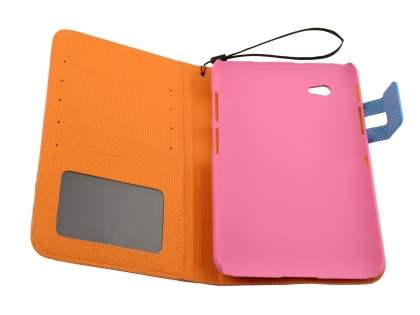 Samsung Galaxy Tab 2 7.0 Slim Wallet Case with Stand - Pink/Blue