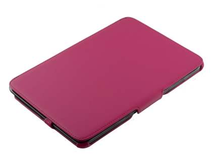 Premium Samsung Galaxy Note 10.1 4G Slim Synthetic Leather Flip Case with Multi-Angle Tilt Stand - Pink