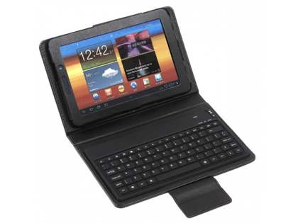 Synthetic Leather Case with Bluetooth Keyboard for Samsung Tab 7.0  - Black Keyboard