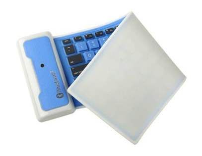 Bluetooth Wireless Rollup Portable Keyboard for Apple - Blue