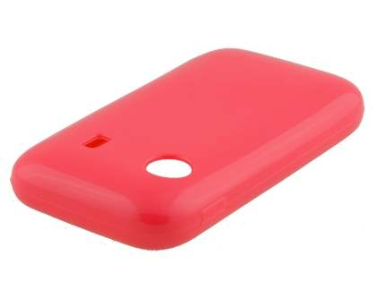 Samsung Galaxy Y S5360T Frosted Colour TPU Gel Case - Hot Pink
