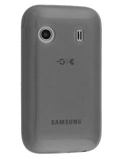 Frosted TPU Case for Samsung Galaxy Y S5360T - Frosted Grey Soft Cover