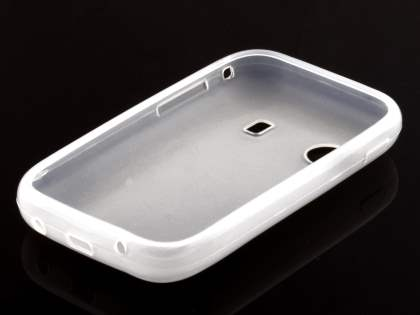 Frosted TPU Case for Samsung Galaxy Y S5360T - Frosted Clear