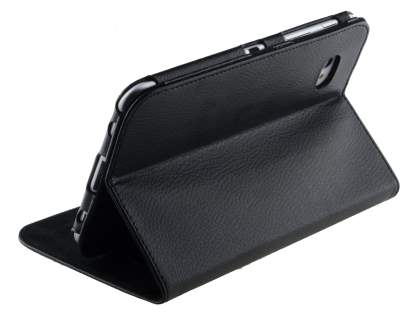 Samsung Galaxy 7.0  Synthetic Leather Flip Case with Dual-Angle Tilt Stand - Black