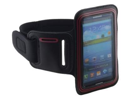 Universal Sports Arm Band for Samsung I9300 Galaxy S3 - Black/Red
