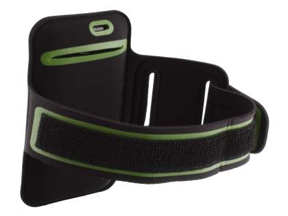 Universal Sports Arm Band for HTC One X / XL / X+ - Black/Green