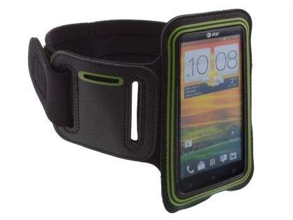Universal Sports Arm Band for HTC One X / XL / X+ - Black/Green Sports Arm Band
