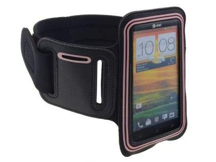Universal Sports Arm Band for HTC One X / XL / X+ - Black/Pink Sports Arm Band