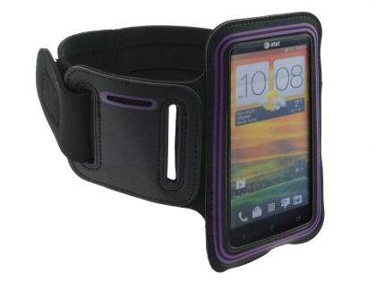 Universal Sports Arm Band for HTC One X / XL / X+ - Black/Purple Sports Arm Band