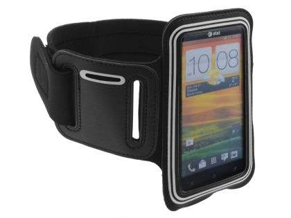 Universal Sports Arm Band for HTC One X / XL / X+ - Black/Silver Sports Arm Band