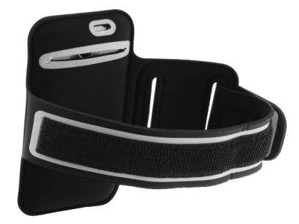 Universal Sports Arm Band for HTC One X / XL / X+ - Black/Silver