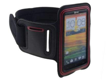 Universal Sports Arm Band for HTC One X / XL / X+ - Black/Red Sports Arm Band