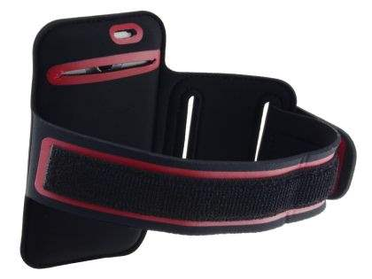 Universal Sports Arm Band for HTC One X / XL / X+ - Black/Red