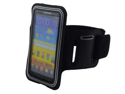 Sports Arm Band for Samsung Galaxy Note I9220 - Black/Silver