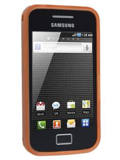 Frosted TPU Case for Samsung Galaxy Ace S5830 - Burned Orange