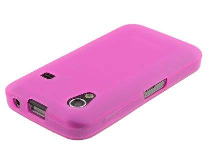 Samsung Galaxy Ace S5830 Frosted TPU Case - Hot Pink