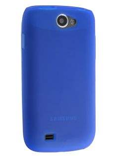 Frosted TPU Case for Samsung Galaxy W I8150 - Ocean Blue Soft Cover